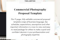 Commercial Photography Proposal Template intended for Photography Proposal Template
