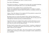 Complaint Letter in Formal Letter Of Complaint To Employer Template