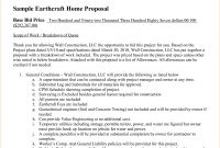 Construction Proposal Example   Construction Proposal Template with Unsolicited Proposal Template