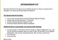 Corporate Sponsorship Proposal Template Sensational Ideas in Sponsor Proposal Template