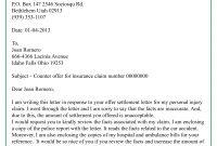 Counter Offer Letter For The Insurance Settlement  Best Letter within Counter Offer Letter Template