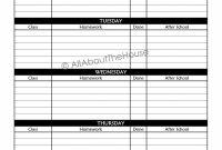Daily Homework Planner Template – Kairoterrainsco Weekly Homework throughout Homework Agenda Template