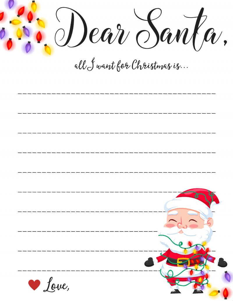 Dear Santa Letter Free Printable Downloads Regarding Dear Santa Letter Template Free