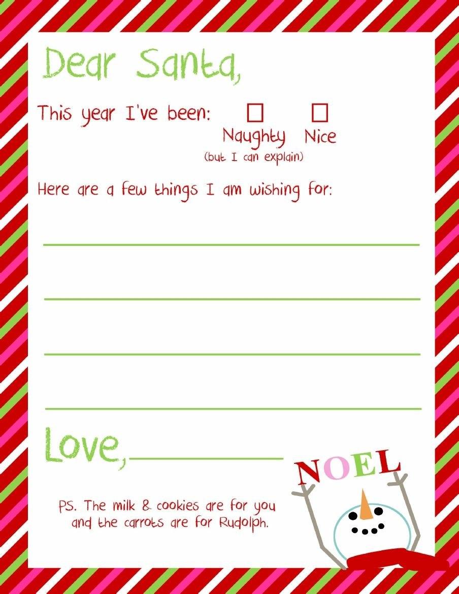Dear Santa Letter Printable  Kindergarten  Holidays  Themes Pertaining To Dear Santa Template Kindergarten Letter