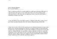 Debt Validation Letter  Gplusnick within Debt Validation Letter Template