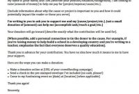 Donation Request Letters Asking For Donations Made Easy with regard to Fundraiser Proposal Template