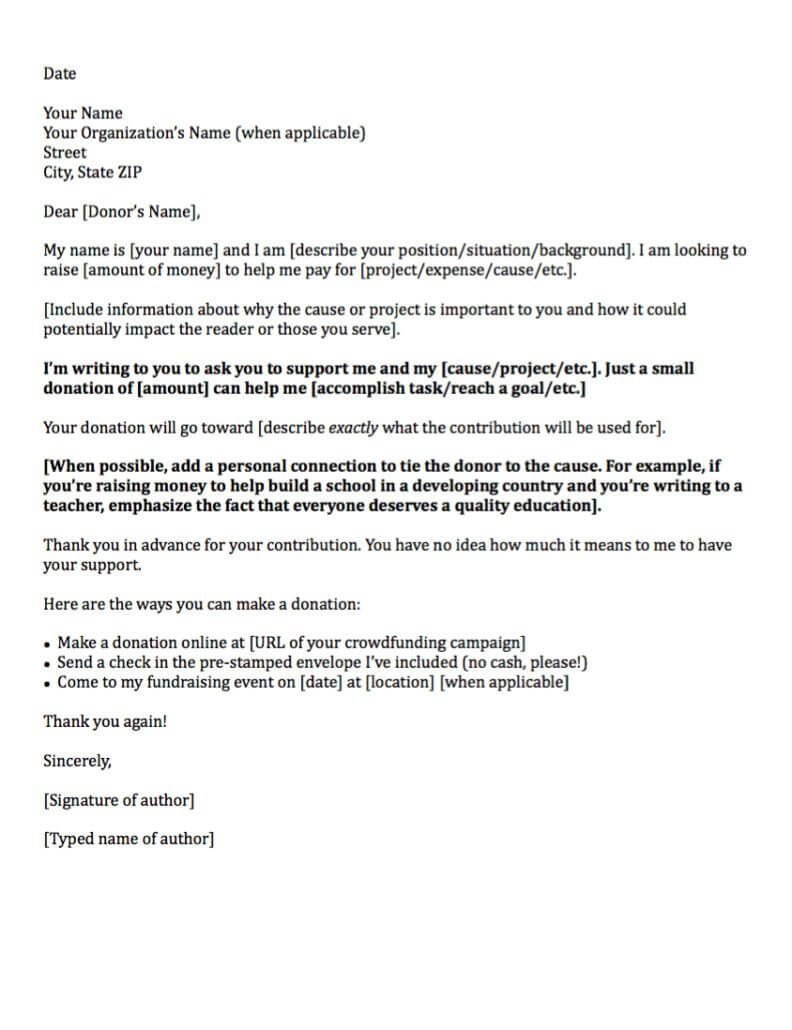 Donation Request Letters Asking For Donations Made Easy Within How To Write A Donation Request Letter Template