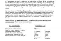 Eagle Scout Recommendation Letter  Tubidportal with Letter Of Recommendation For Eagle Scout Template