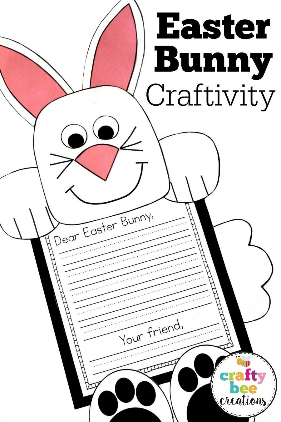 Easter Bunny Craft Dear Easter Bunny Writing Prompts  Second In Letter To Easter Bunny Template