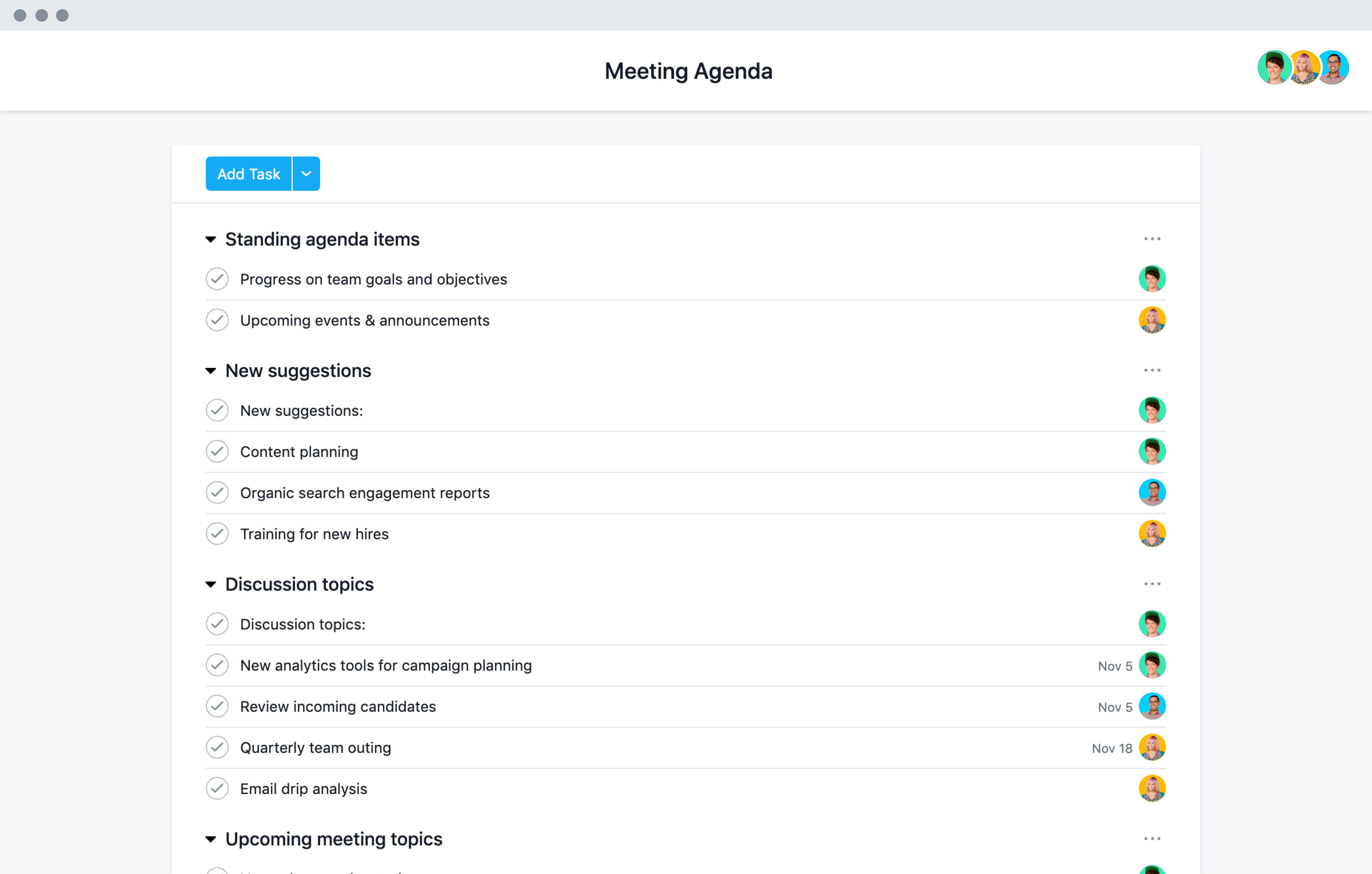 Easy To Adapt Meeting Agenda Template · Asana With Regard To Training Agenda Template