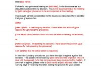 Editable Grievance Letters Tips  Free Samples ᐅ Template Lab intended for Grievance Template Letters
