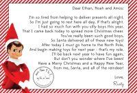 Elf On A Shelf Goodbye Letter Free Printable – Orek with Goodbye Letter From Elf On The Shelf Template