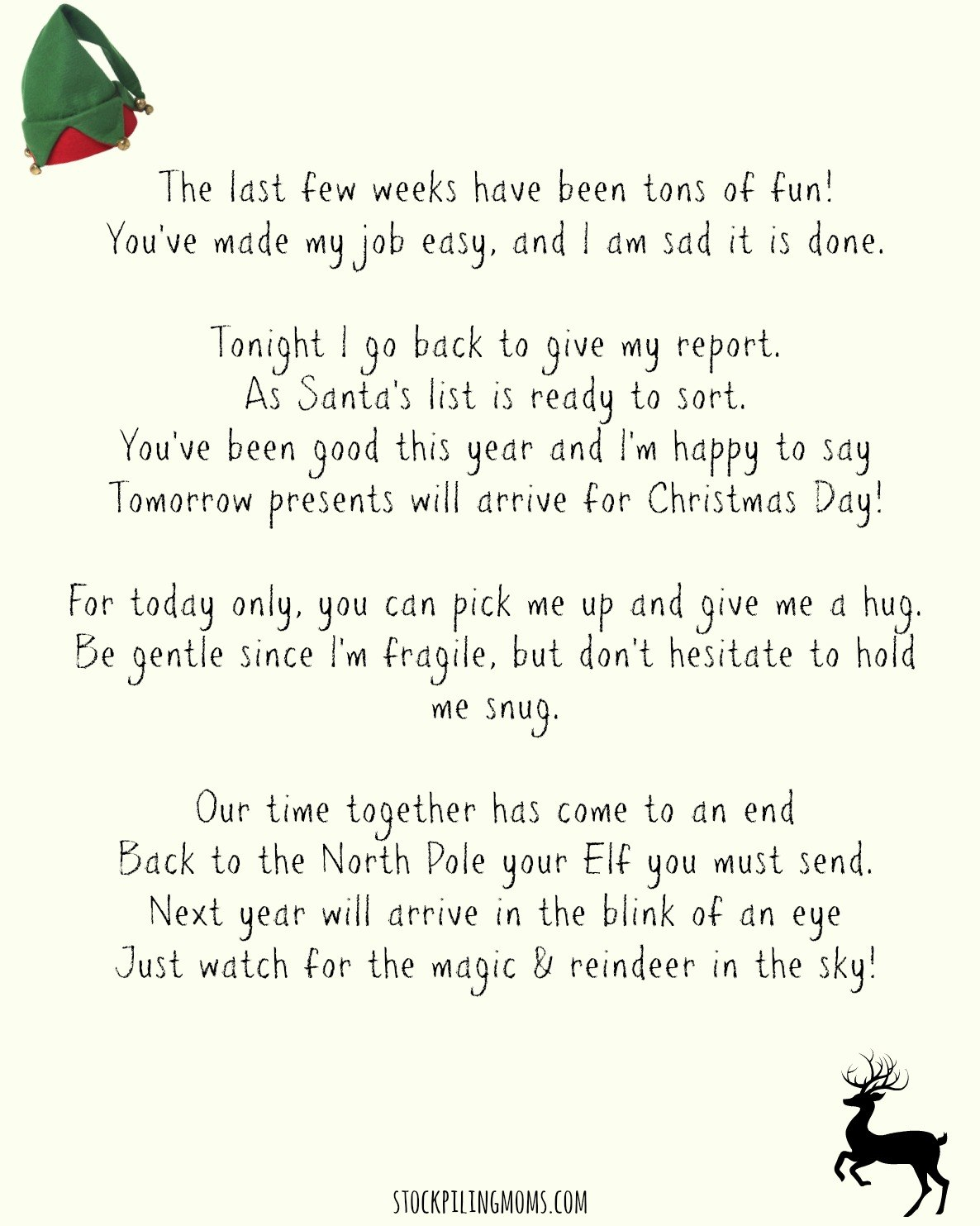 Elf On A Shelf Goodbye Letter Printable  Stockpiling Moms™ With Regard To Goodbye Letter From Elf On The Shelf Template