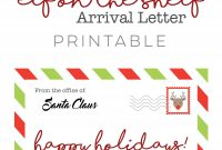 Elf On The Shelf  Arrival Letter Free Download • Ali Brugman Blog with regard to Elf On The Shelf Arrival Letter Template