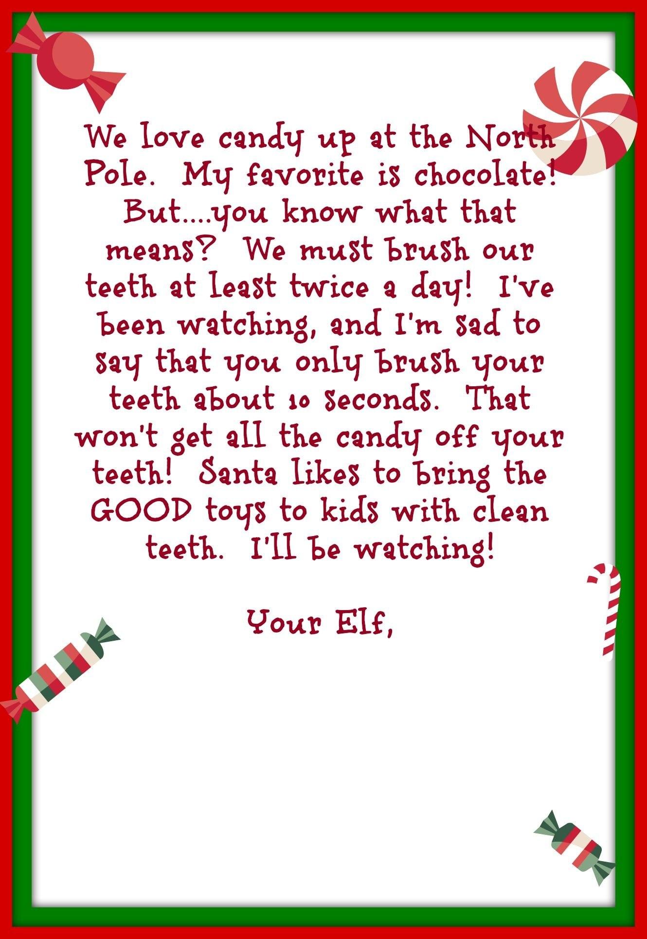Elf On The Shelf Day   December Prek  Elf On The Shelf With Goodbye Letter From Elf On The Shelf Template