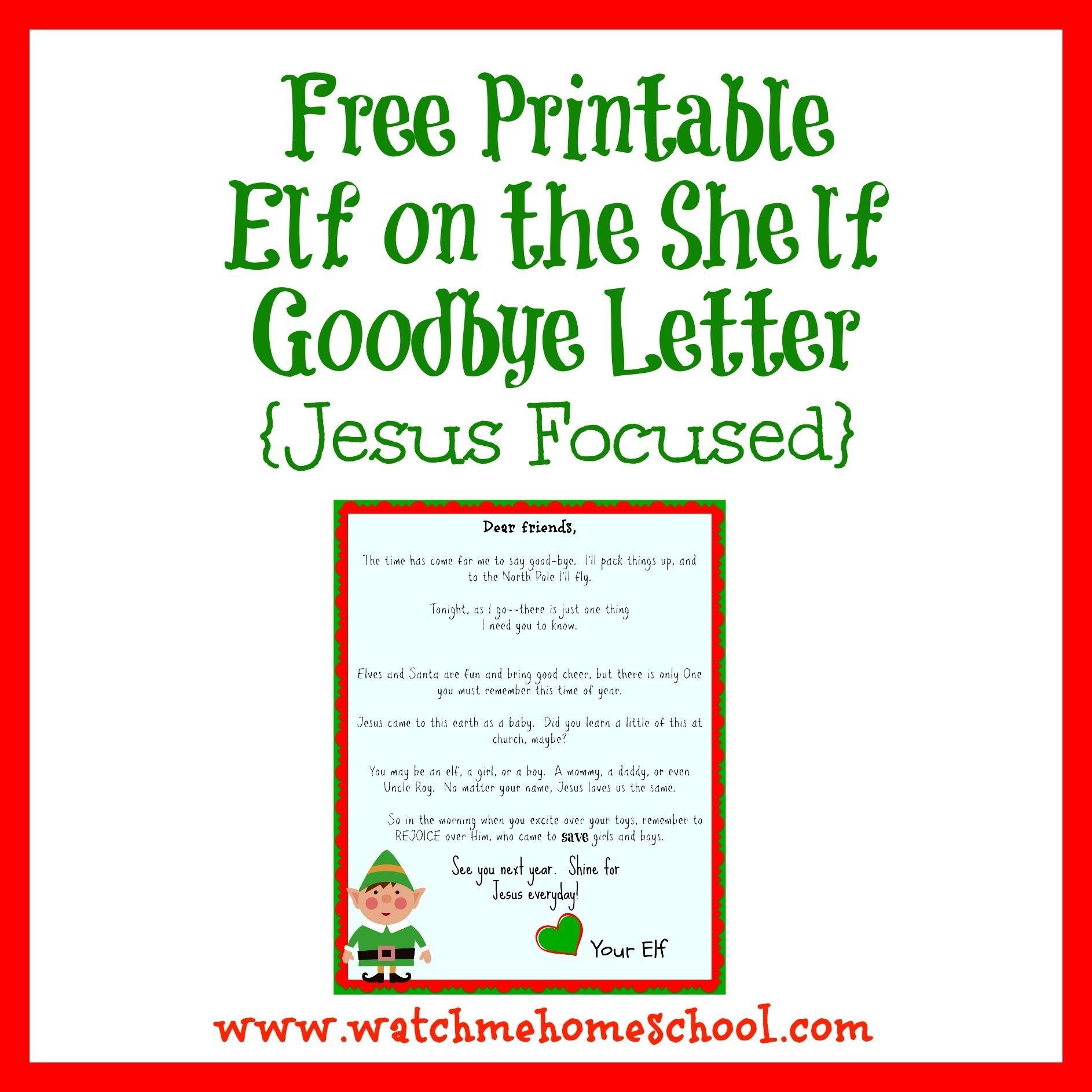 Elf On The Shelf Farewell Letter Printable  Elf On The Shelf  Elf Regarding Elf On The Shelf Goodbye Letter Template