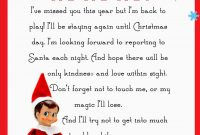 Elf On The Shelf Letter Free Printable  Christmas  Elf On The with regard to Elf On The Shelf Arrival Letter Template