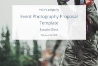 Event Photography Proposal Template Free Download  Bidsketch with regard to Photography Proposal Template