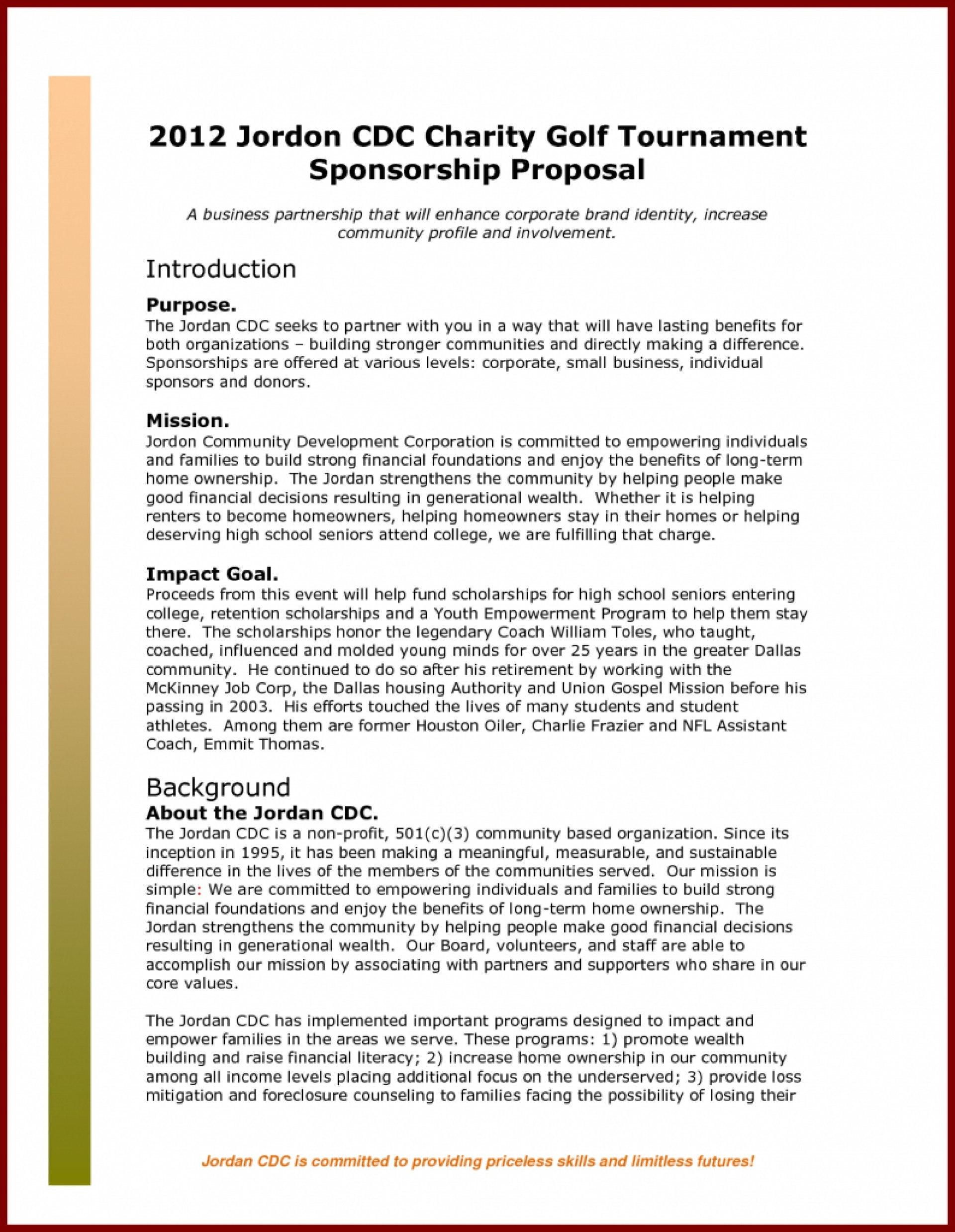 Event Sponsorship Proposal Template Ideas Sponso Corporate Throughout Corporate Sponsorship Proposal Template