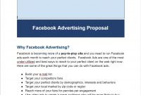Facebook Ads Proposal Template  Facebook Advertising Secrets Inside Advertising Proposal Template