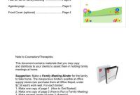 Family Minutes In A Meeting Templates  Pdf  Free  Premium for Family Meeting Agenda Template