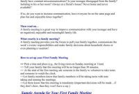 Family Minutes In A Meeting Templates  Pdf  Free  Premium inside Family Meeting Agenda Template