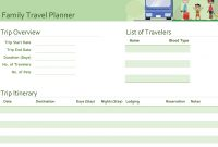 Family Travel Planner intended for Travel Agenda Template
