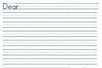 First Grade Paper Template First Grade Letter Writing Paper Template in Letter Writing Template For First Grade