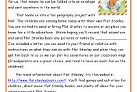 Flat Stanley Letters With Instructions On What The Students Are throughout Flat Stanley Letter Template