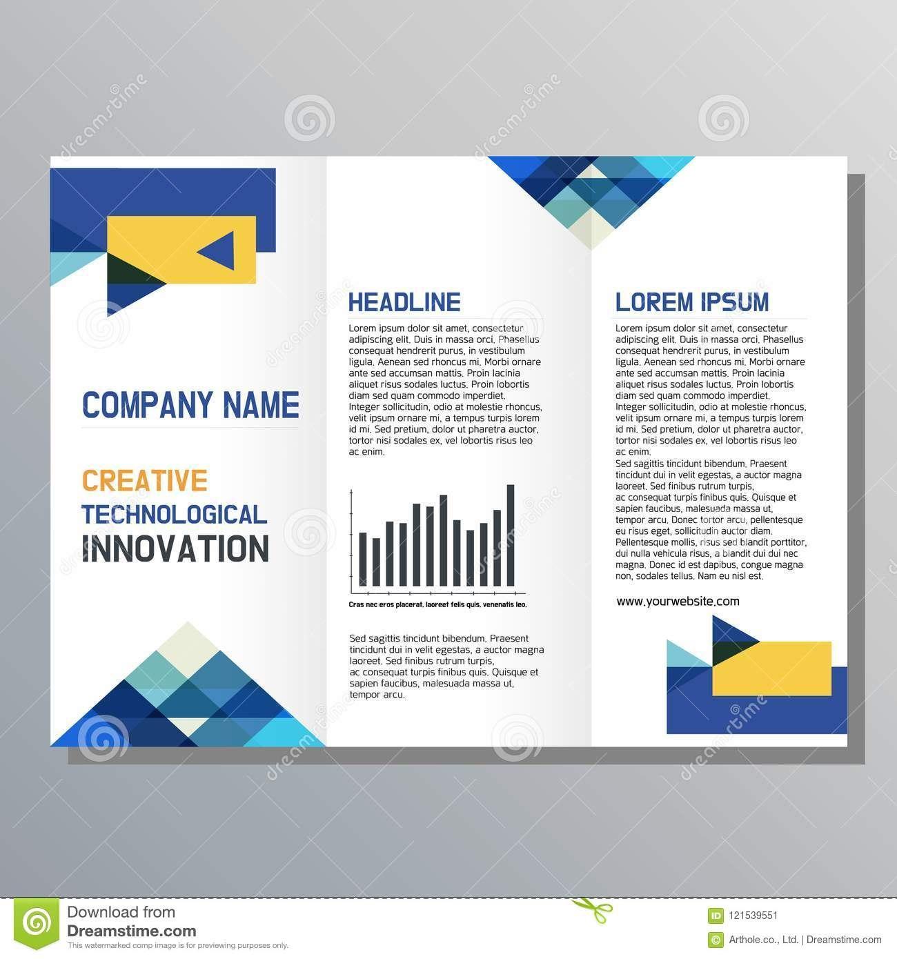 Flyer Design Business Brochure Template Stock Vector With Regard To Presentation Handout Template
