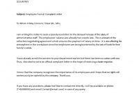 Formal Complaint About Delayed Salaryemployee  Templates At throughout Formal Letter Of Complaint To Employer Template