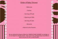 Free Baby Shower Agenda Template Mughals Cheap Baby Shower within Baby Shower Agenda Template