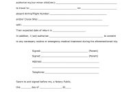 Free Consent Child Form  Fill Online Printable Fillable Blank with Notarized Letter Template For Child Travel