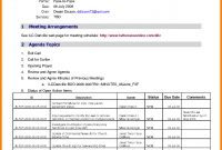 Free Downloadableting Agenda Templatemeeting Template Word in Blank Meeting Agenda Template