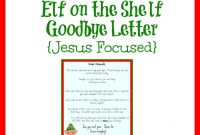 Free Elf On The Shelf Goodbye Letter That Is Jesus Centered throughout Goodbye Letter From Elf On The Shelf Template