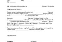 Free Employment Income Verification Letter  Pdf  Word  Eforms intended for Proof Of Income Letter Template