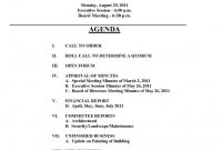 Free  Images Of Hoa Board Meeting Agenda Template Bfegy Homeowners for Board Of Directors Meeting Agenda Template