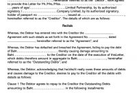 Free Iou I Owe You  Debt Acknowledgment Forms Word Pdf inside Iou Letter Template