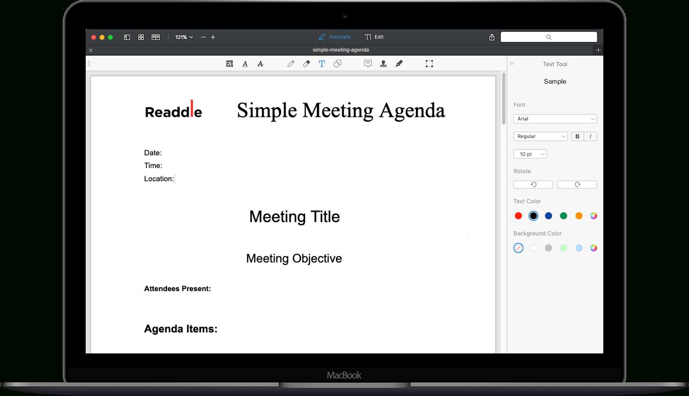 Free Meeting Agenda Template  Meeting Agenda Pdf Download Within Board Of Directors Meeting Agenda Template
