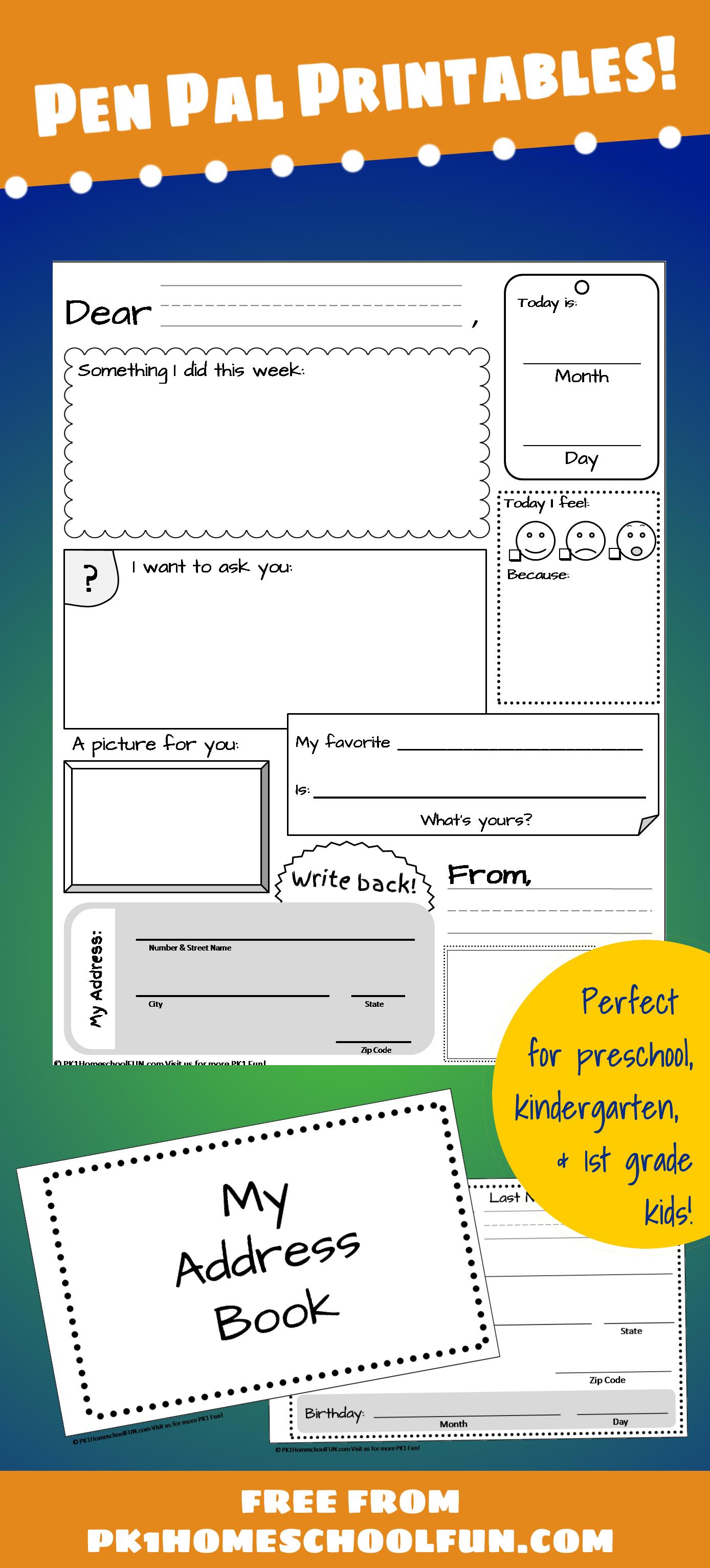 Free Pen Pal Printables For Kids  Pen Pal Ideas  Snail Mail Pen Inside Pen Pal Letter Template