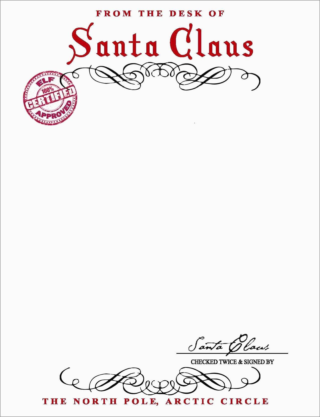 Free Printable Letter From Santa Word Template Pleasant Santa Claus With Regard To Free Letters From Santa Template