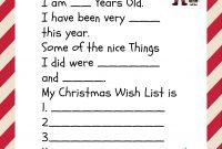Free Printable Santa Letters For Kids  Holiday Ideas Christmas in Dear Santa Template Kindergarten Letter