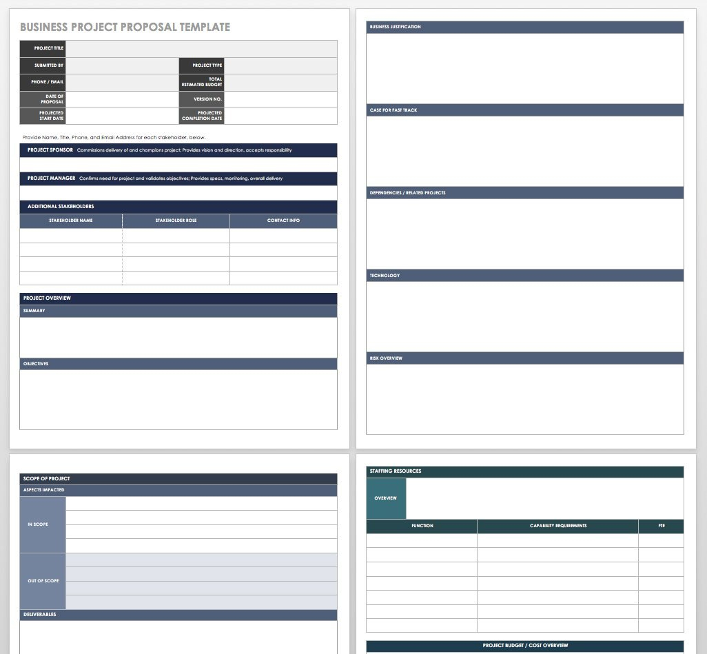 Free Project Proposal Templates  Tips  Smartsheet With Microsoft Word Project Proposal Template