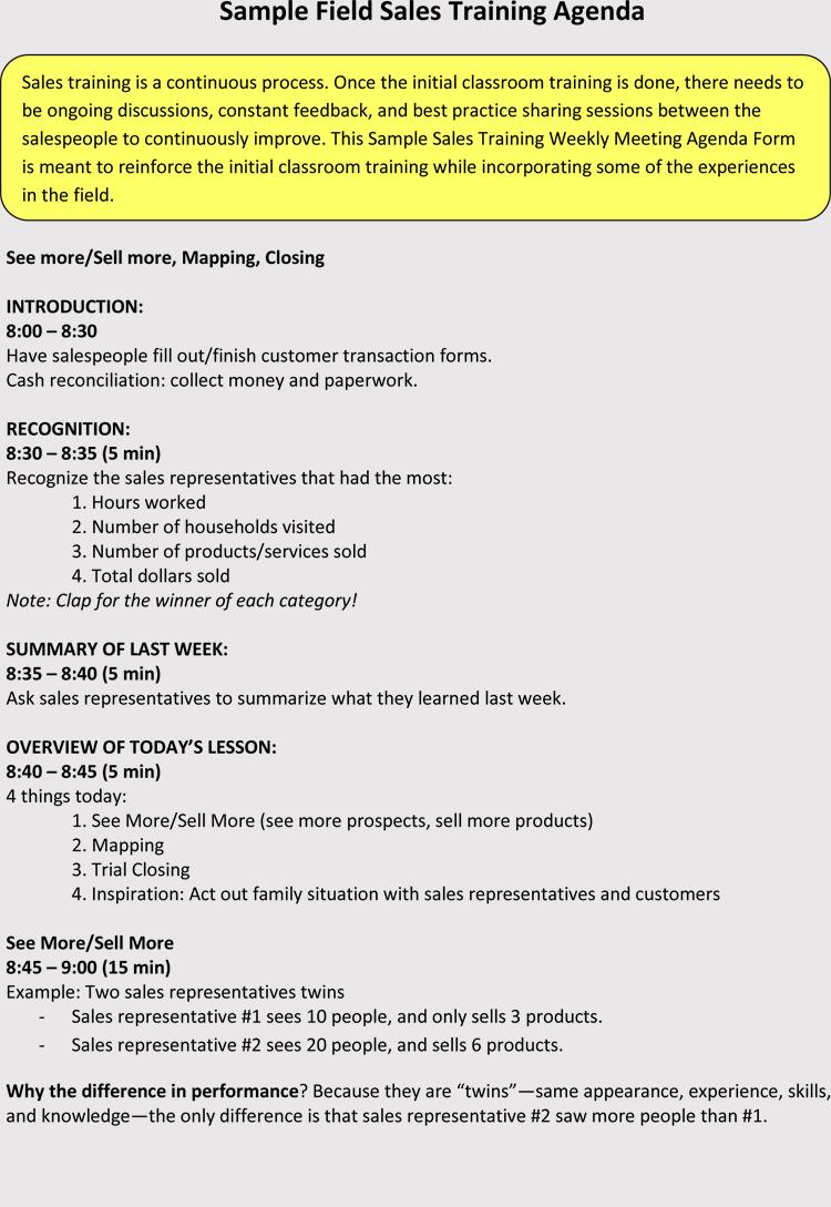 Free Sales Meeting Agenda Templates Make Meetings Progressive With Regard To Sales Meeting Agenda Template