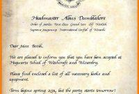 Hogwarts Acceptance Letter Blank  Loginnelkriver with Harry Potter Letter Template
