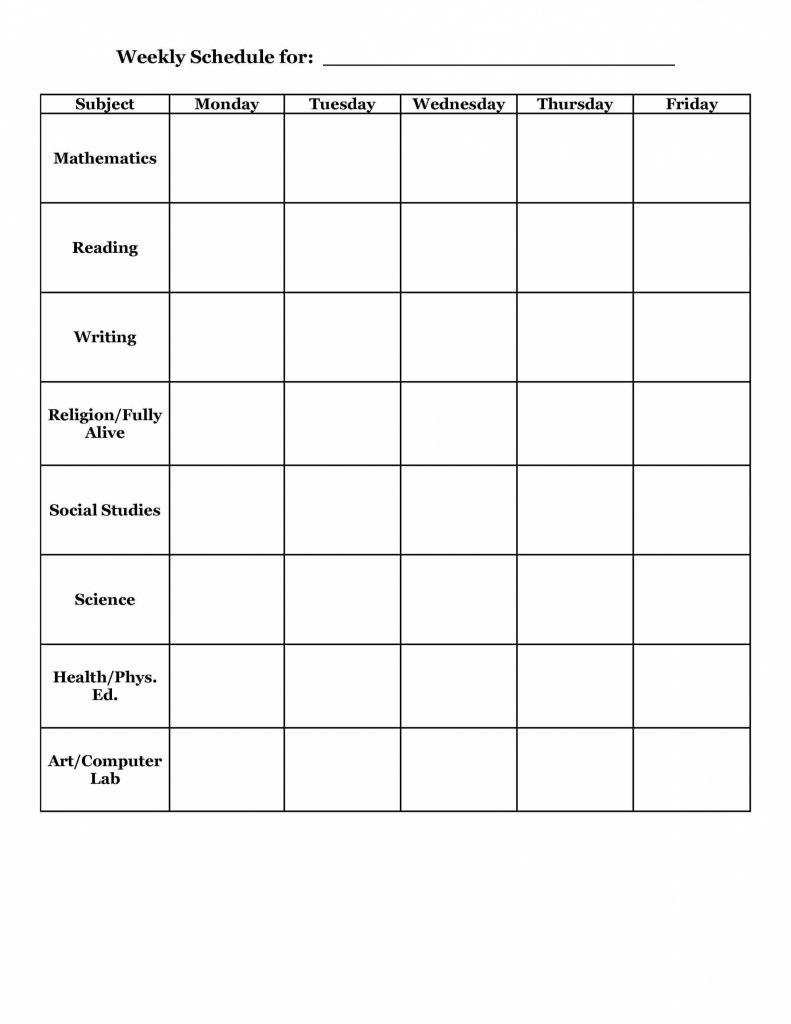 Homework Agenda Template For Elementary Tracker Page Free Printable In Homework Agenda Template