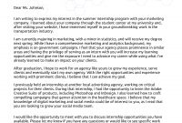 How To Write A Cover Letter For An Internship Example regarding Internship Cover Letter Template