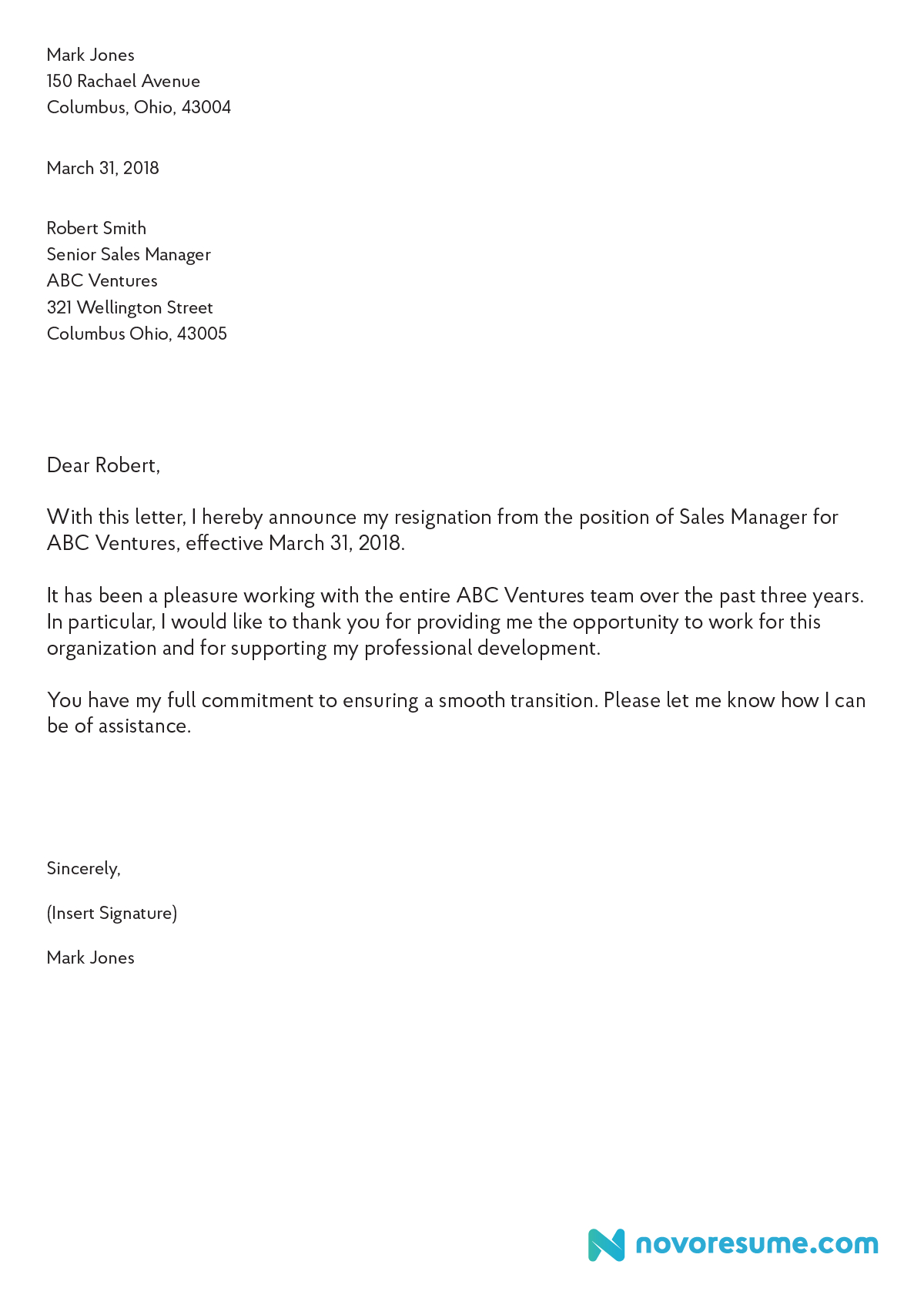 How To Write A Letter Of Resignation –  Extensive Guide Inside Draft Letter Of Resignation Template