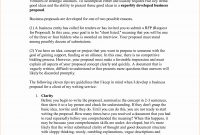 How To Write A Proposal Examples Business Proposal – Latter Example intended for Idea Proposal Template