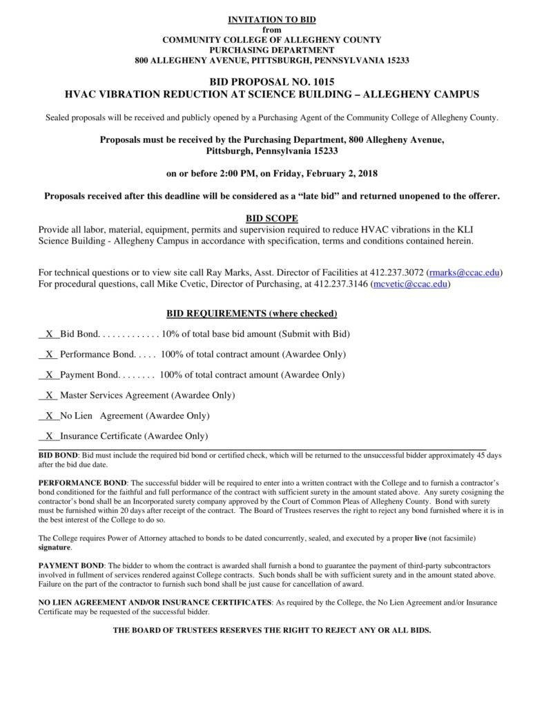 Hvac Proposal Templates  Pdf  Free  Premium Templates Pertaining To Equipment Proposal Template